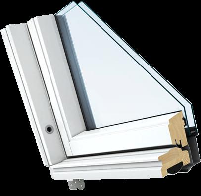 White Painted Pine Window Finish