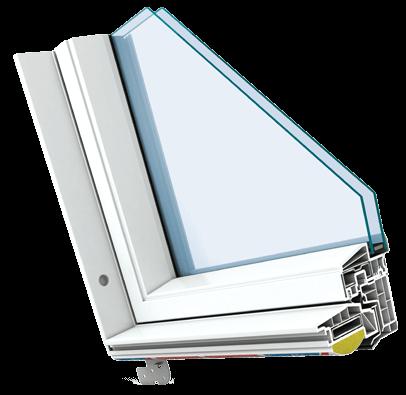 Polar White PVC Window Finish